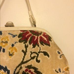 Vintage Brocade Floral Pocketbook